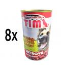 8x konzerva TIM pečeňová 1200g