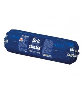 Salám BRIT Dog Turkey & Rice 800g