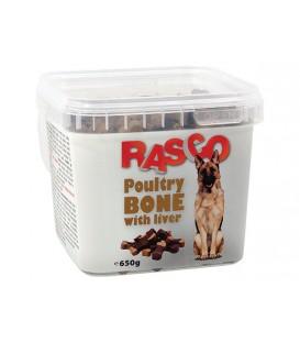 Pochúťka RASCO Dog kosti hydinové s pečeňou 650g