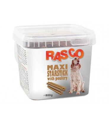 Pochoutka RASCO Dog hvězdy natural s drůbeží 800g