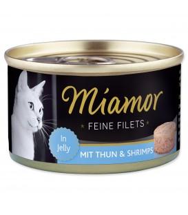 Konzerva MIAMOR Feine Filets tuniak + krevety v želé 100g