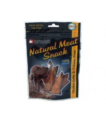 Snack ONTARIO Dog Chicken Jerky + Calcium 70g