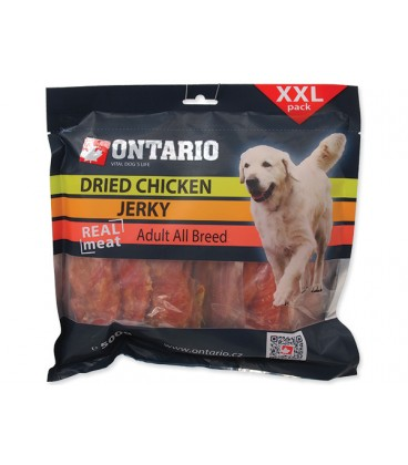 Snack ONTARIO Dog Dry Chicken Jerky 500g
