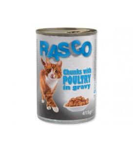Konzerva RASCO Cat hydinové kúsky v šťave 415g