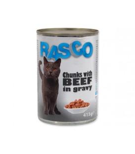 Konzerva RASCO Cat hovädzie kúsky v šťave 415g