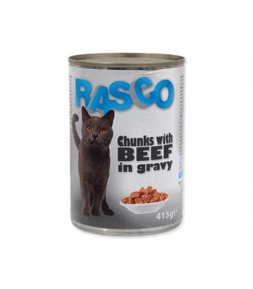 Konzerva RASCO Cat hovězí kousky ve šťávě 415g
