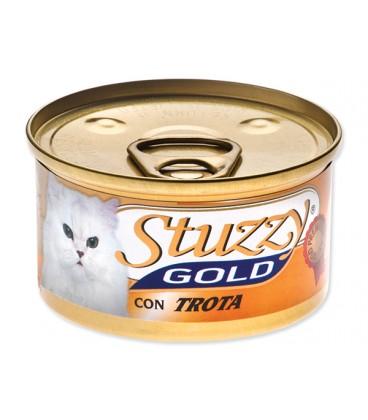 Konzerva STUZZY Cat Gold pstruh 85g