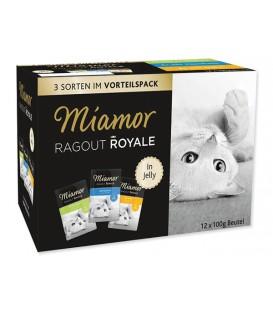 Kapsičky MIAMOR Ragout Royale kura, tuniak, králik v želé multipack 1200g