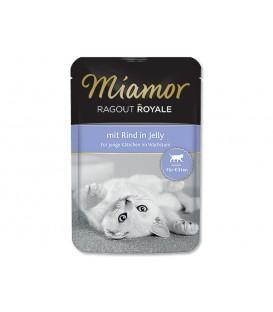 Kapsička MIAMOR Ragout Royale Kitten hovädzie v želé 100g