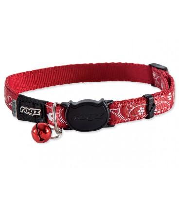 Obojek ROGZ SilkyCat Red Filigree S
