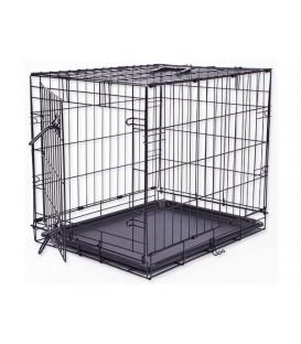 Klec DOG FANTASY skládací černá S