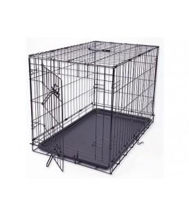 Klec DOG FANTASY skládací černá M
