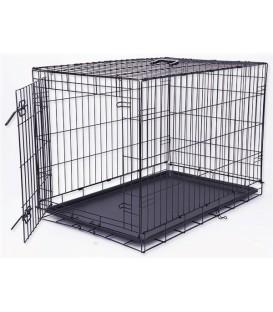 Klec DOG FANTASY skládací černá L