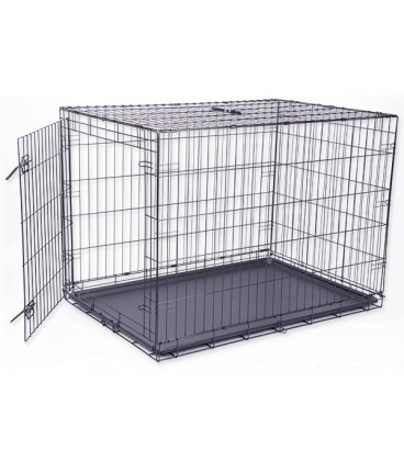 Klec DOG FANTASY skládací černá XL