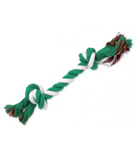 Uzol DOG FANTASY bavlnený zeleno-biely 2 knôty 25 cm