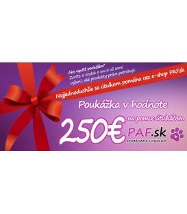 Poukážka v hodnote 250€