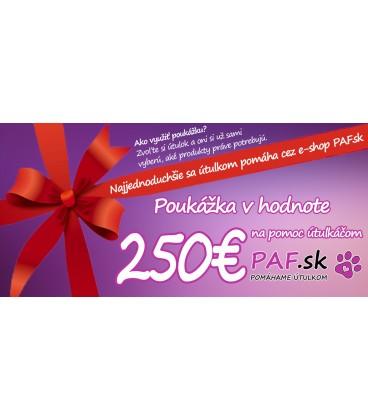 Poukázka v hodnotě 250€