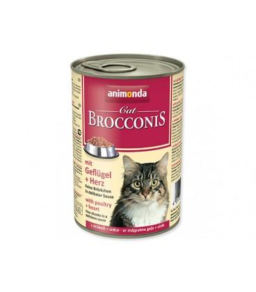 Konzerva ANIMONDA Brocconis hydina + srdce 400g