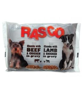 Kapsičky RASCO Dog s kuracím a hovädzím / s jahňacím a kuracím multipack 400g
