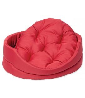Pelech DOG FANTASY ovál s vankúšom červený 60 cm