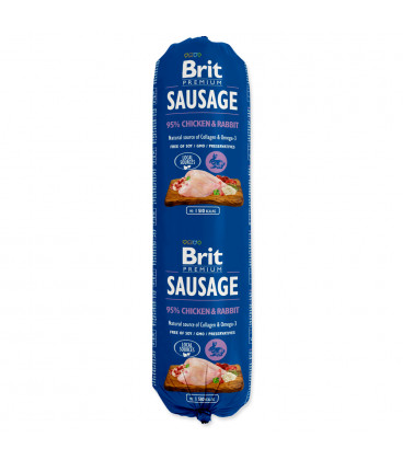 Saláma BRIT Premium Sausage Chicken & Rabbit 800g
