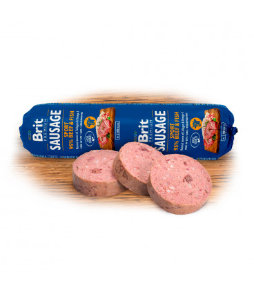 Saláma BRIT Premium Sausage Sport - Beef & Fish 800g
