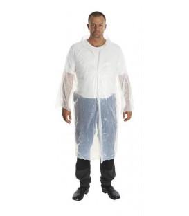 Plášť igelitový KRUTEX jednorazový biely