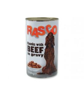 Konzerva RASCO Dog hovädzie kúsky v šťave 1240g