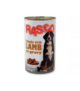Konzerva RASCO Dog jahňacie kúsky v šťave 1240g