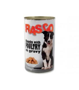 Konzerva RASCO Dog hydinové kúsky v šťave 1240g