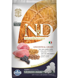 Farmina N&D dog LG puppy medium&maxi lamb & blueberry 2,5 kg