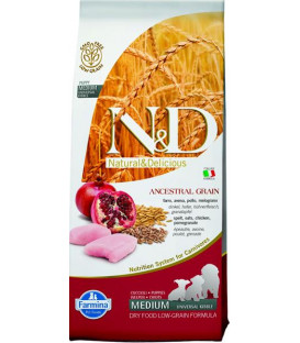 Farmina N&D dog LG puppy medium chicken&pomegranate 12 kg