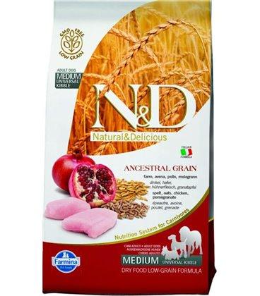 Farmina N&D dog LG adult medium chicken&pomegranate 2,5 kg