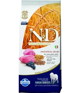 Farmina N&D dog LG adult maxi lamb&blueberry 12 kg