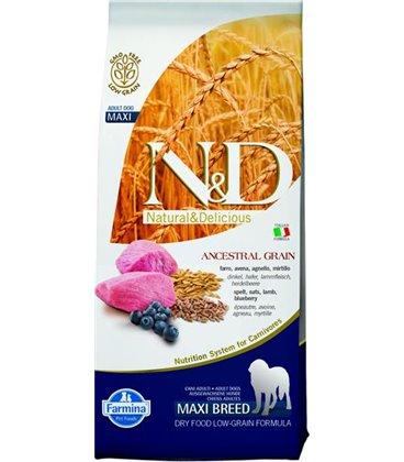 Farmina N&D dog LG adult maxi lamb&blueberry 12 kg
