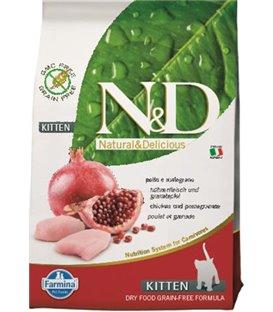 Farmina N&D cat GF kitten chicken&pomegranate 10 kg