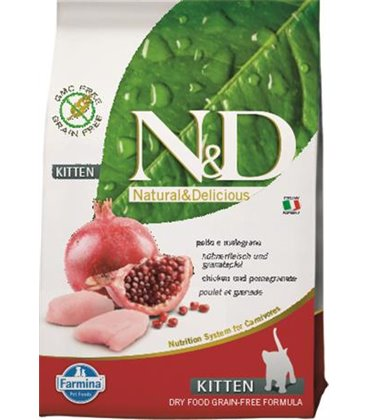 Farmina N&D cat GF kitten chicken&pomegranate 10 kg