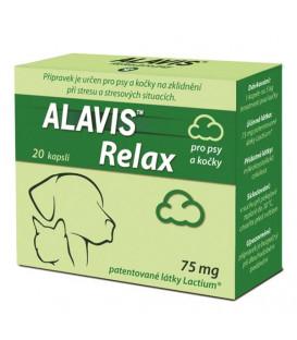 ALAVIS Relax pre psy a mačky 75 mg 40 kapsúl