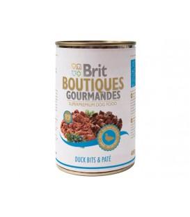 Konzerva BRIT Dog Boutiques Gourmandes Duck Bits & Paté 400g