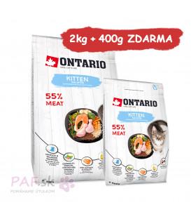 ONTARIO Kitten Salmon 2kg + 400g ZDARMA