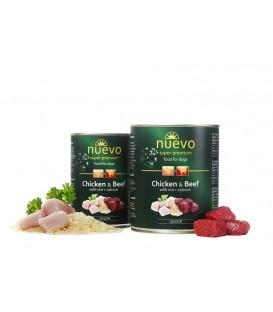 NUEVO konzerva dog Junior Chicken & Beef 800 g