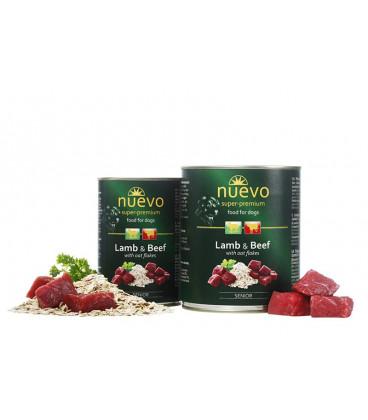 NUEVO konzerva dog Senior Lamb & Oat Flakes 400 g